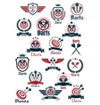 Sport darts game symbols and icons vector image vector image