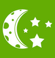starry night icon green vector image vector image