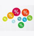 symbol percent discounts vector image vector image