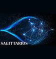 symbol sagittarius zodiac sign vector image vector image