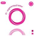 Three segmented o letter logo concept vector image vector image