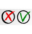 tick cross check marks icons vector image