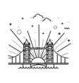 tower bridge icon outline vector image