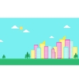 Urban city color flat of silhouette vector image vector image