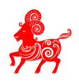 Year of the Goat Chinese Zodiac Goat on white vector image vector image
