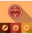flat fine food design elements vector image