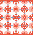 1950s style hexagon patchwork dot seamless vector image vector image