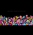 abstract fluid or liquid colorful splash on black vector image vector image