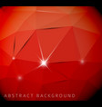 abstract red background made from triangles vector image