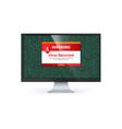 alert message virus detected warning message vector image