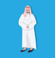 arabic thick business man icon wearing traditional vector image vector image