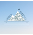 Badge and label logo graphic on abstract blue vector image vector image