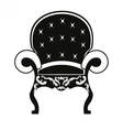 Baroque style armchair vector image vector image