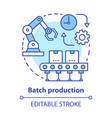 batch production concept icon manufacturing