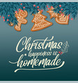 beautiful christmas card with fir branches vector image vector image