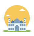 big mosque of muslim prayer to worship their god vector image vector image