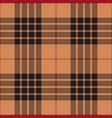 black red beige tartan plaid seamless pattern vector image vector image