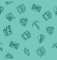 blockchain icons pattern vector image