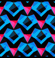 blue pink and black polygons on a dark background vector image vector image