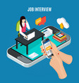 business recruitment isometric concept vector image vector image