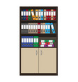 cabinet and files ring binders office folders vector image vector image