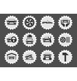 car service maintenance icon set vector image vector image