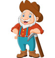 cartoon gold prospector vector image