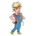 cartoon image of female mechanic vector image