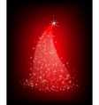 Christmas red tree with stars vector image