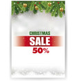 christmas sale banner with traditional decorations vector image vector image