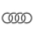 circle chain halftone dotted icon vector image