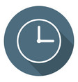 clock icon time symbol outline flat style vector image vector image