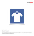 clothing item on hanger icon - blue photo frame vector image vector image