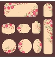 Collection with different paper labels for wedding vector image