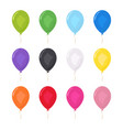 colored balloons set birthday party decoration vector image