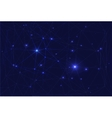Cosmic constellation with stars vector image vector image