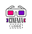 creative logo template for video or movie company vector image vector image