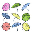 cute colorful autumn set of umbrellas different vector image vector image