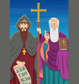 cyril and methodius vector image