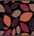 decorative leaves pattern seamless background vector image vector image