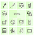 digital icons vector image vector image