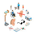disabled people care set vector image vector image