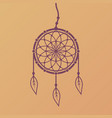 dreamcatcher design element isolated vector image vector image