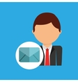 email business man suit worker icon vector image vector image