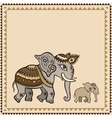 Ethnic elephant Indian style vector image vector image