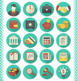 Financial and Business Icons Turquoise Set vector image vector image