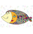 fish abstract colorful vector image vector image
