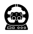 gaming accessory glyph icon vector image