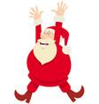 happy santa claus cartoon character on christmas vector image vector image