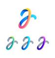 letter j logo design vector image